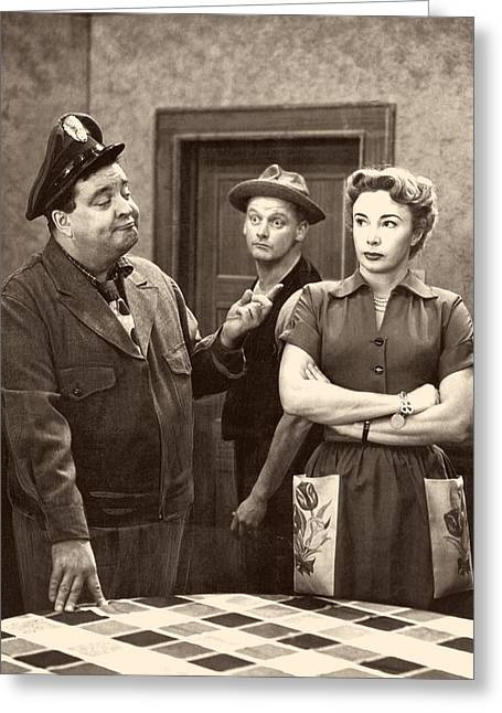 1950s Tv Greeting Cards - The Honeymooners Greeting Card by Cbs