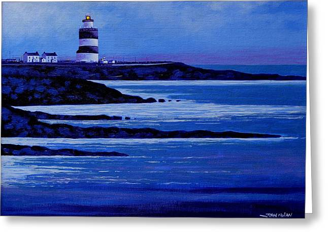 Lighthouse Prints Greeting Cards - The Hook Lighthouse the hook peninsula county wexford Ireland Greeting Card by John  Nolan