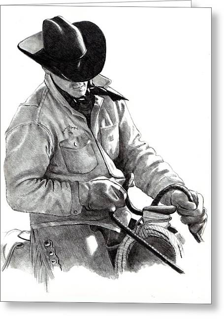 Joyce Geleynse Greeting Cards - The Horse Trainer Greeting Card by Joyce Geleynse