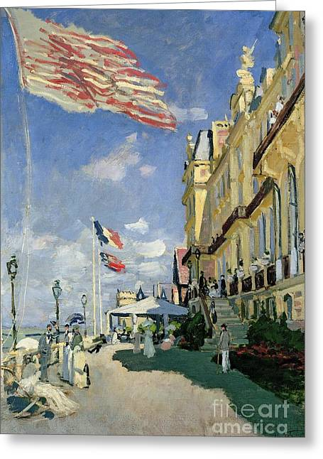 Impressionism Greeting Cards - The Hotel des Roches Noires at Trouville Greeting Card by Claude Monet