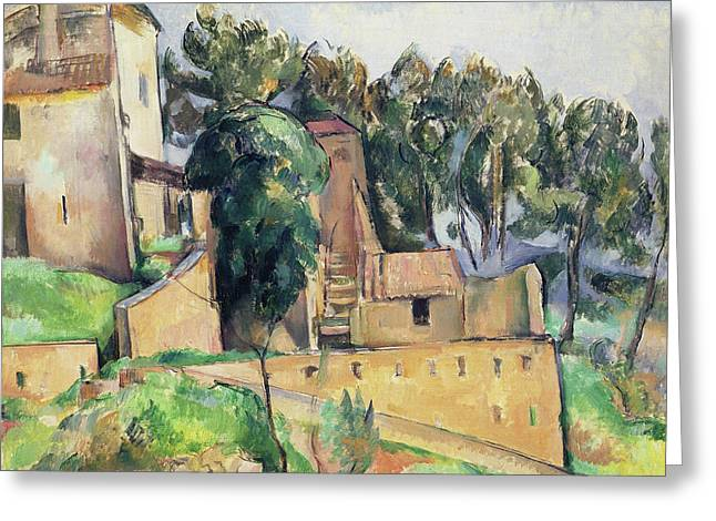The House At Bellevue Greeting Card by Paul Cezanne