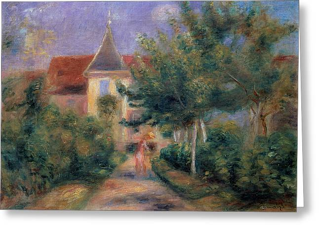 Renoir Greeting Cards - The House at Giverny under the Roses Greeting Card by Pierre Auguste Renoir
