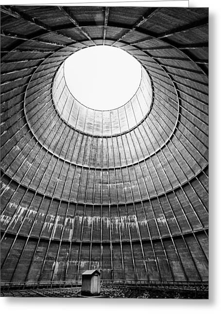 Abandoned Places Greeting Cards - The House Inside The Cooling Tower - Industrial Decay Greeting Card by Dirk Ercken