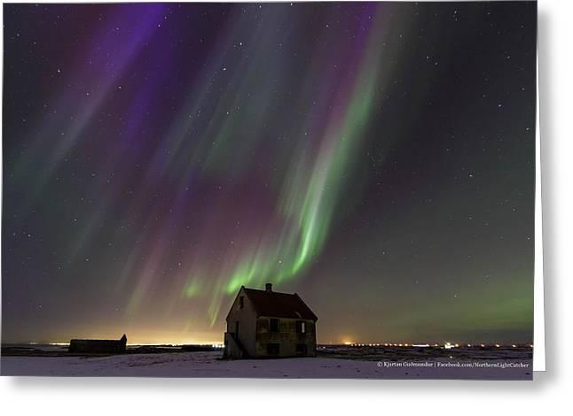 The House Of Blue Light II Greeting Card by Kjartan Gudmundur Juliusson