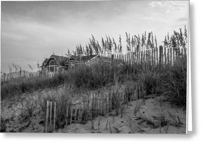 Print On Canvas Greeting Cards - The House On  The Beach Greeting Card by John Harding Photography
