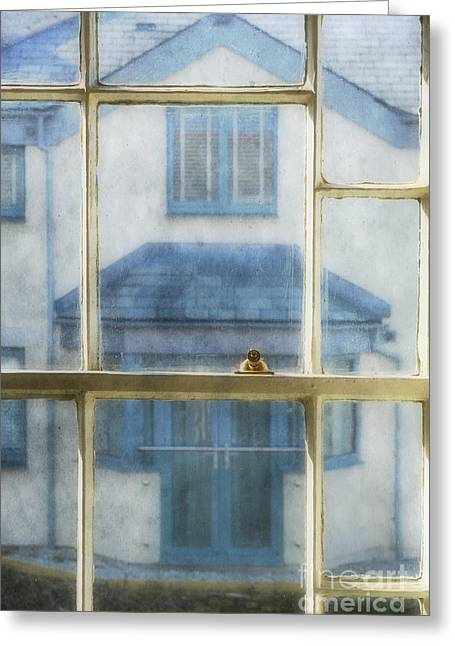 White Frame House Digital Greeting Cards - The House Opposite Greeting Card by Alexandra Lavizzari