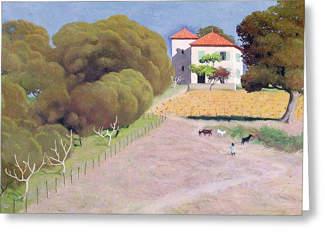 Red-roofed Buildings Greeting Cards - The House with the Red Roof Greeting Card by Felix Edouard Vallotton