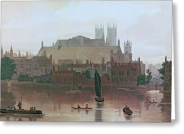 The Houses Of Parliament Greeting Card by George Fennel Robson