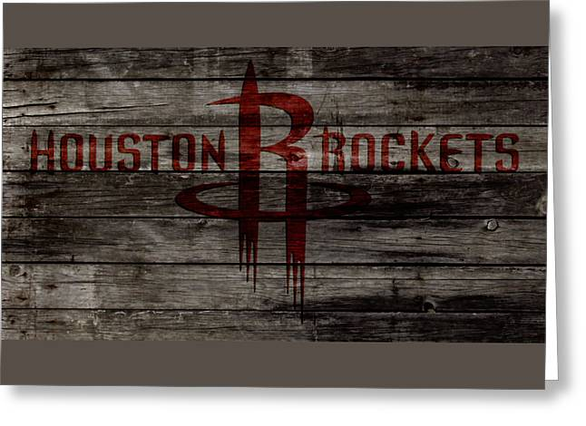 The Houston Rockets 1w Greeting Card by Brian Reaves