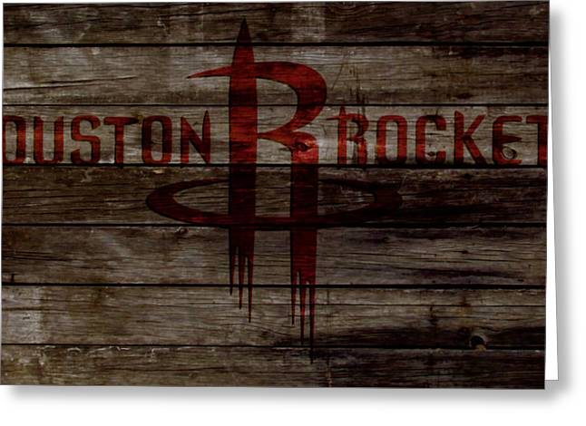 The Houston Rockets 2w Greeting Card by Brian Reaves