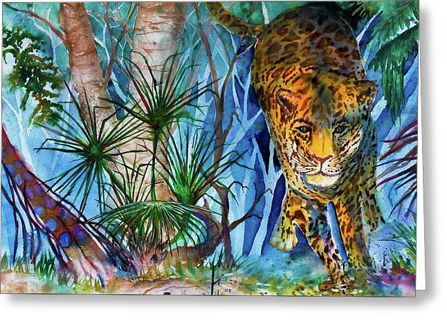 The Hunt Greeting Card by Larry  Johnson