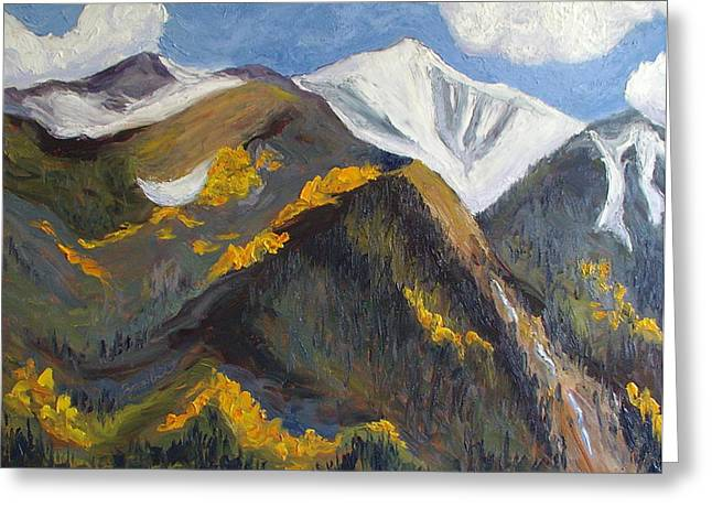 Steamboat Springs Western Greeting Cards - The Hunt on Mount Antero Buena Vista Colorado Greeting Card by Zanobia Shalks