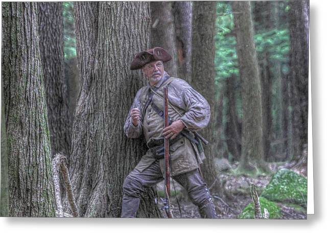 Muzzleloader Greeting Cards - The Hunter Greeting Card by Randy Steele