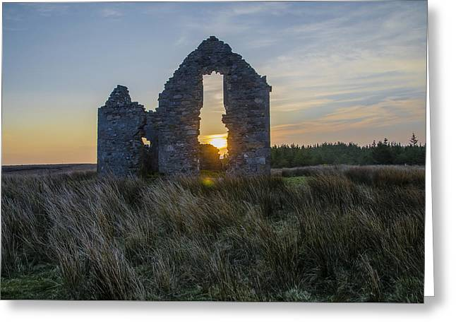 Sligo Greeting Cards - The Hunting Lodge At Lough Easkie at Sunrise Greeting Card by Bill Cannon
