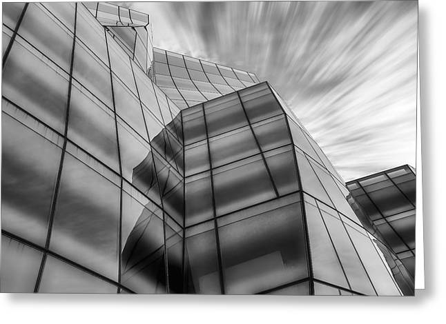 Chelsea Greeting Cards - The IAC Building BW Greeting Card by Susan Candelario