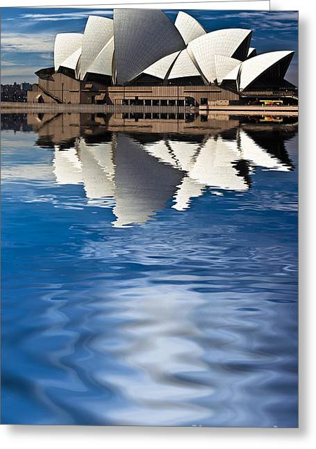 Sydney Greeting Cards - The iconic Sydney Opera House Greeting Card by Sheila Smart