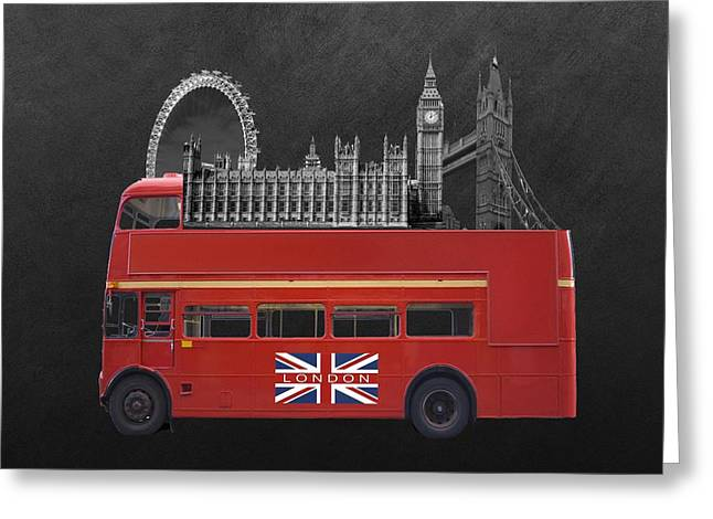 Famous Bridge Greeting Cards - The Icons Of London  Greeting Card by Sheela Ajith