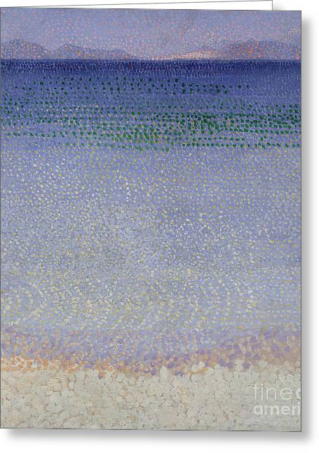 Calm Paintings Greeting Cards - The Iles dOr Greeting Card by Henri Edmond Cross