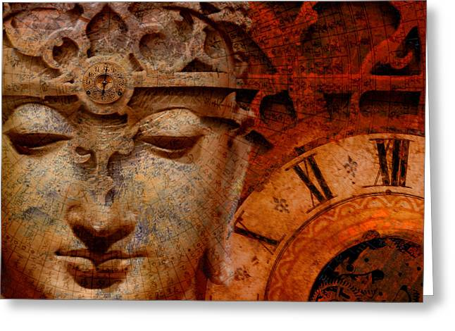 Artwork Mixed Media Greeting Cards - The Illusion of Time Greeting Card by Christopher Beikmann