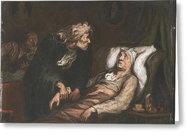 The Imaginary Invalid  Greeting Card by Honore Daumier