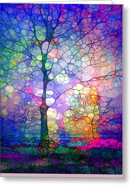 Distortion Greeting Cards - The Imagination of Trees Greeting Card by Tara Turner