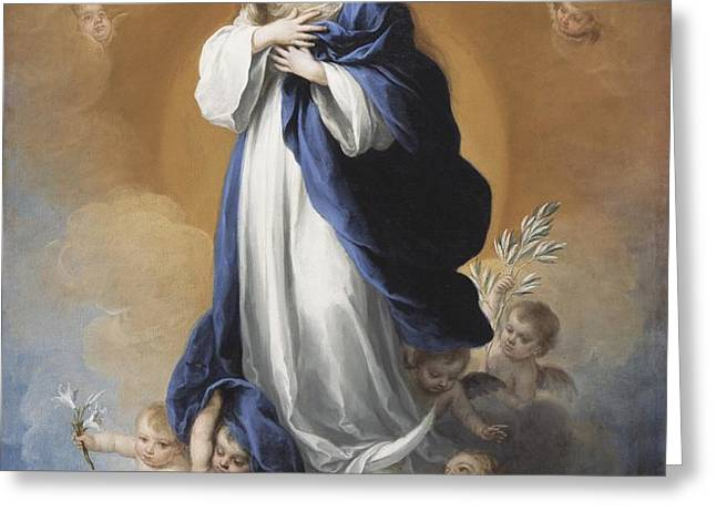 The Immaculate Conception  Greeting Card by Bartolome Esteban Murillo