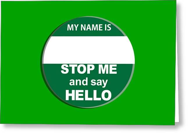 The Inbetweeners Nice Badge  Greeting Card by Paul Telling