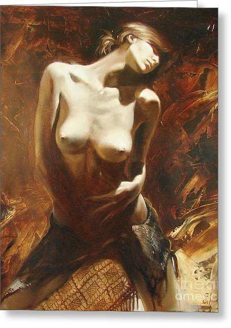 Sergey Ignatenko Greeting Cards - The incinerating passion Greeting Card by Sergey Ignatenko