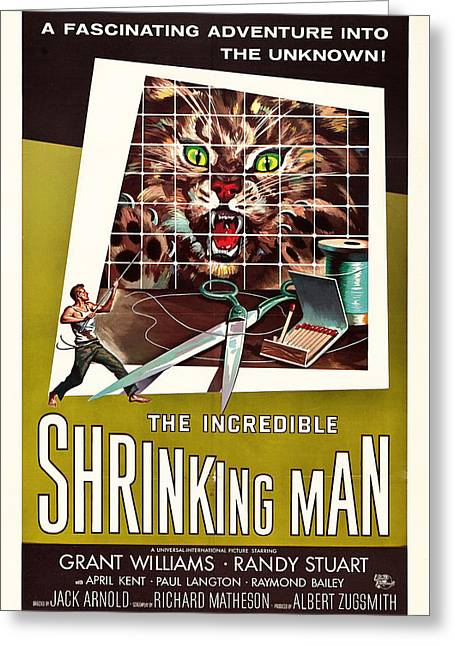 1950s Movies Greeting Cards - The Incredible Shrinking Man 1957 Greeting Card by Mountain Dreams