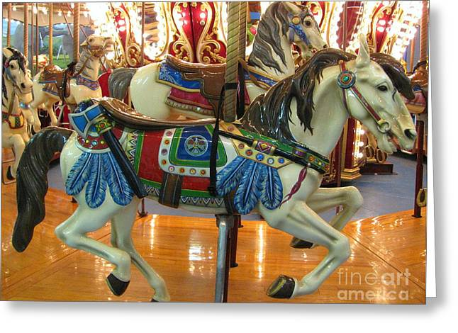 Painted Ponies Greeting Cards - The Indian  Greeting Card by Colleen Kammerer