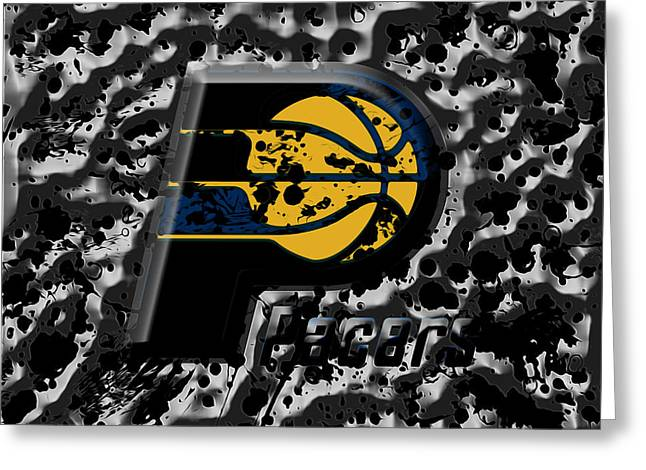 The Indiana Pacers 1a Greeting Card by Brian Reaves