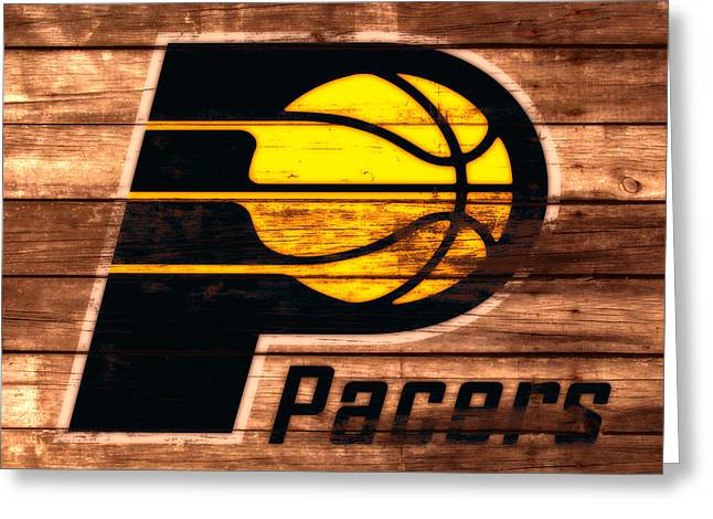 The Indiana Pacers 3a Greeting Card by Brian Reaves
