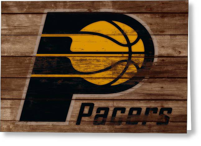 The Indiana Pacers 3b Greeting Card by Brian Reaves