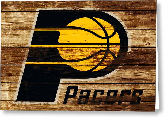 The Indiana Pacers 3c Greeting Card by Brian Reaves