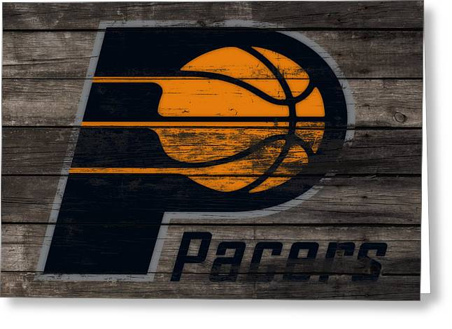 The Indiana Pacers 3f Greeting Card by Brian Reaves