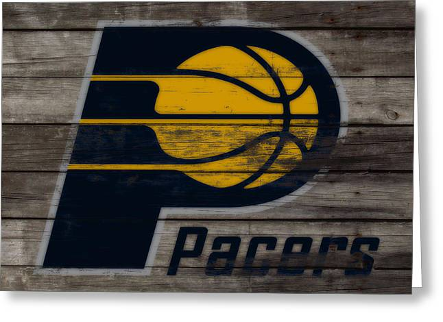 The Indiana Pacers 3h Greeting Card by Brian Reaves