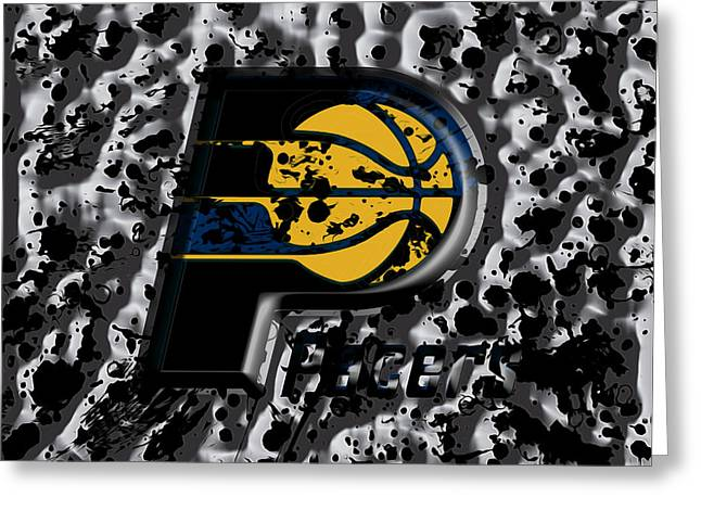The Indiana Pacers Greeting Card by Brian Reaves