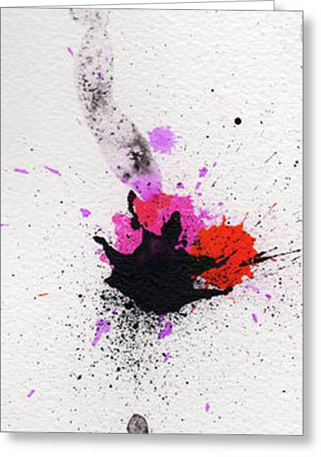 Hand Made Mixed Media Greeting Cards - The Inexplicable Ignition Of Time Expanding Into Free Space Phase Two Number 02 Greeting Card by Mark M  Mellon