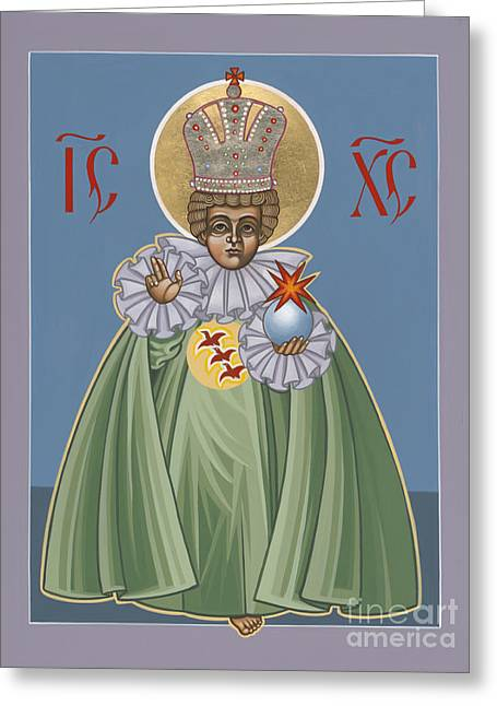 Child Jesus Greeting Cards - The Infant of Prague 184 Greeting Card by William Hart McNichols