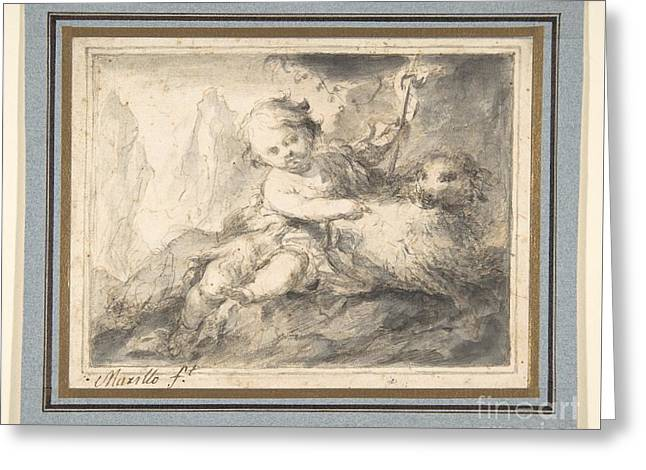Bartolome Esteban Murillo Greeting Cards - The Infant St. John the Baptist Greeting Card by Bartolome Esteban Murillo