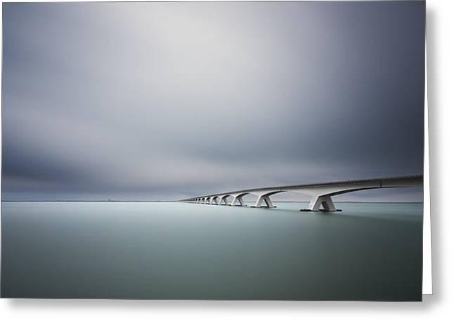 The Infinite Bridge Greeting Card by Arthur Van Orden