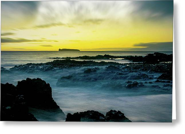 The Infinite Spirit  Tranquil Island Of Twilight Maui Hawaii  Greeting Card by Sharon Mau