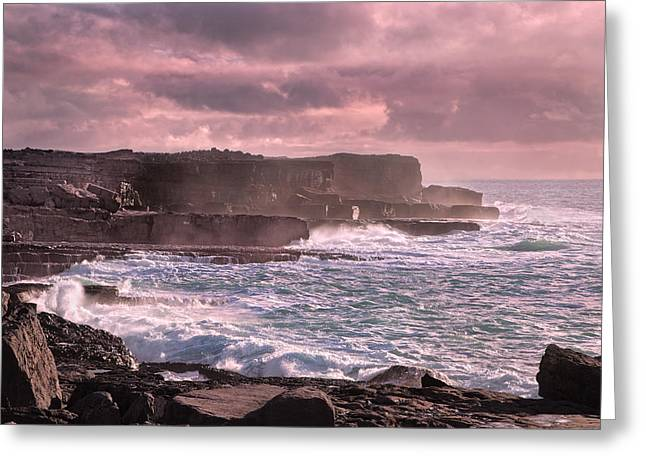 Aran Islands Greeting Cards - The Inishmore Spell Greeting Card by Betsy C  Knapp