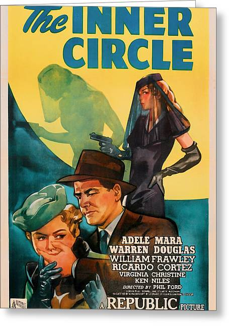 1946 Movies Greeting Cards - The Inner Circle 1946 Greeting Card by Mountain Dreams