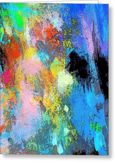 Palette Knife And Brush Greeting Cards - The Inner Self Greeting Card by Charles Yates