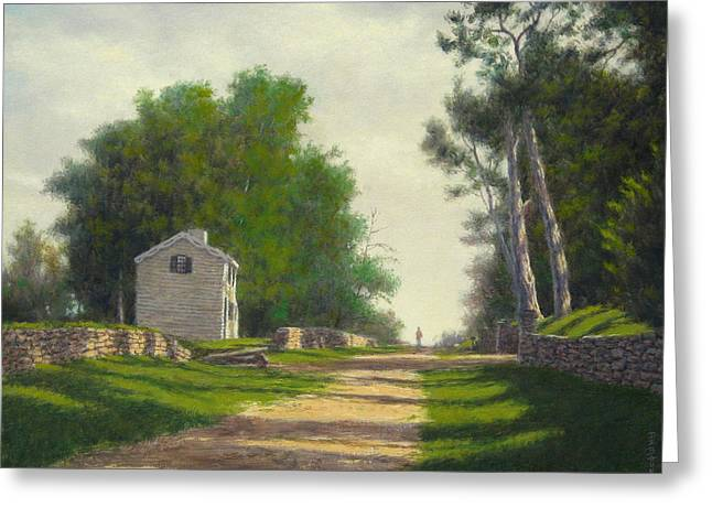 Kingston Paintings Greeting Cards - The Innis House Fredericksburg VA Greeting Card by Barry DeBaun