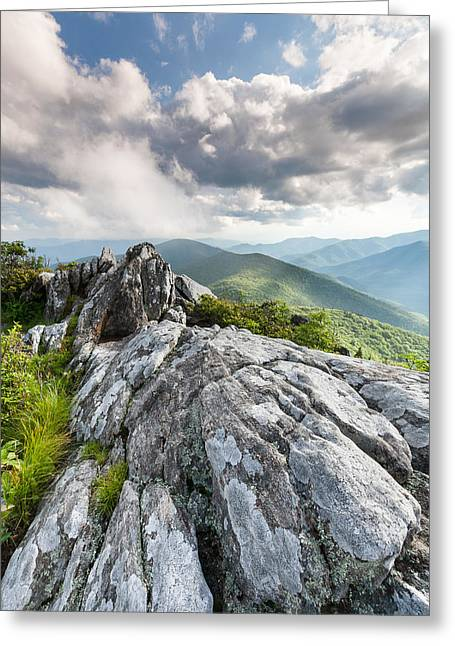 Western North Carolina Greeting Cards - The Interface of the Ancient and the Present Greeting Card by Mark VanDyke