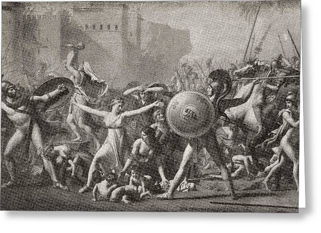 Intervention Greeting Cards - The Intervention Of The Sabine Women Greeting Card by Ken Welsh