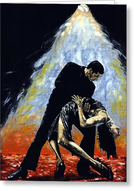Embrace Greeting Cards - The Intoxication of Tango Greeting Card by Richard Young