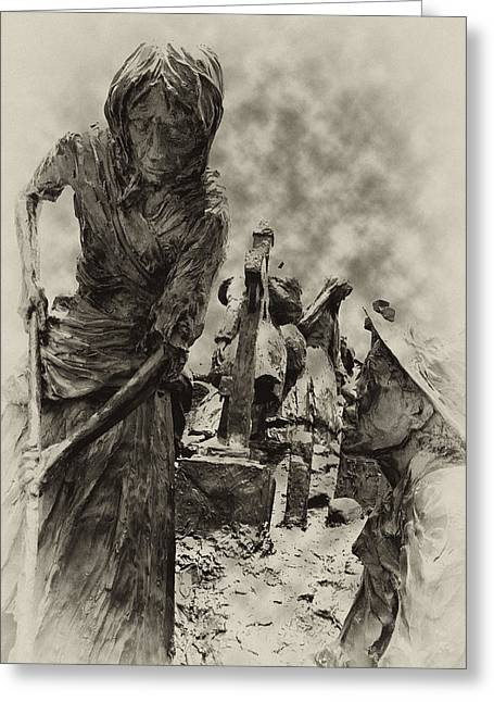 Philadelphia Digital Greeting Cards - The Irish Famine Greeting Card by Bill Cannon